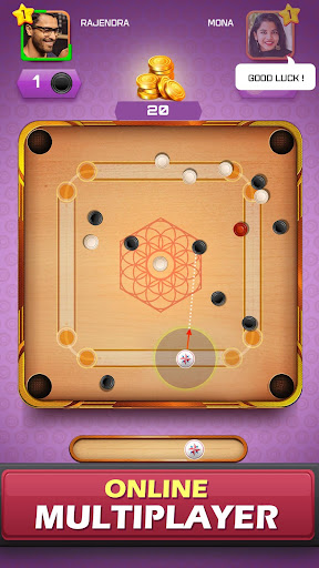 Carrom Friends : Carrom Board Game modiapk screenshots 1