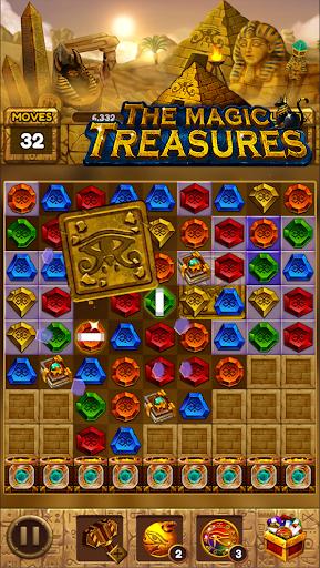 The magic treasures: Pharaoh's empire puzzle apkslow screenshots 15