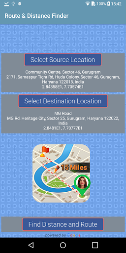 Driving GPS Route Finder