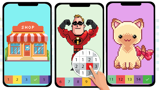 Pixel Art Color by number - Coloring Book Games 2.5 screenshots 14