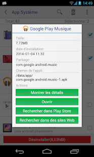 Désinstalleur App Sytème(root needed) Capture d'écran