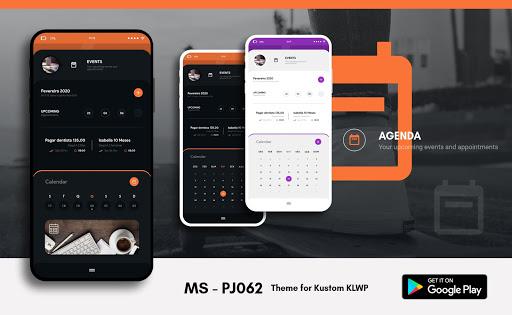MS - PJ062 Theme for KLWP  screenshots 5