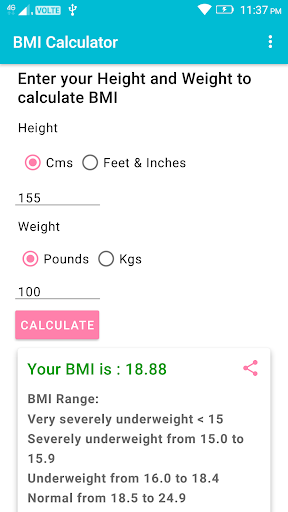 BMI Calculator For PC Windows (7, 8, 10, 10X) & Mac Computer Image Number- 6