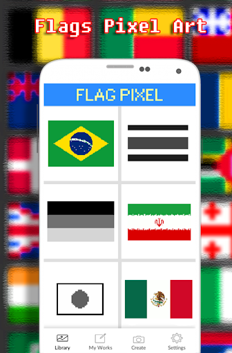Flags Coloring By Number - Pixel  screenshots 1