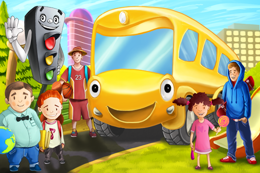 Bus Story Adventures Fairy Tale for Kids apktreat screenshots 1