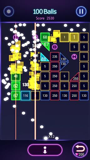 Bricks Breaker Hit - Glow Balls  screenshots 2
