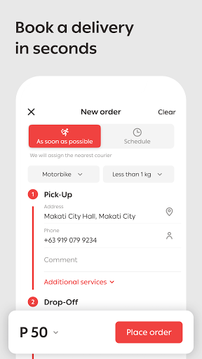 MrSpeedy: Fast & Express Courier Delivery Service 1.47.1 Screenshots 1