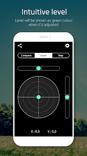 Compass 9: Smart Compass (Level / real-time map) Screenshot