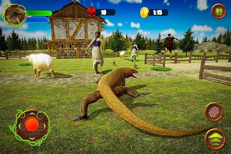 Angry Komodo Dragon: Epic RPG Survival Game Screenshot
