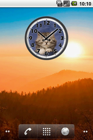 Sweet Cat Clock For PC Windows (7, 8, 10, 10X) & Mac Computer Image Number- 6
