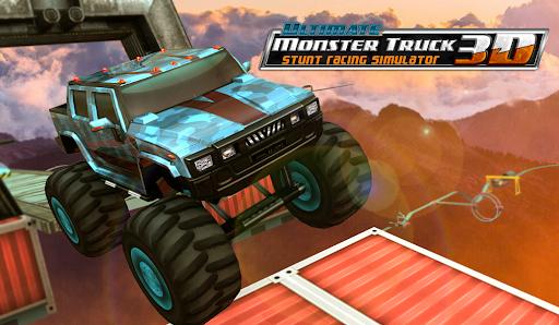 Ultimate Monster Truck: 3D Stunt Racing Simulator apkpoly screenshots 1
