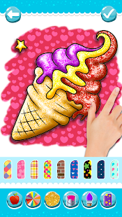 Glitter Ice Cream Coloring 5.4 Screenshots 7