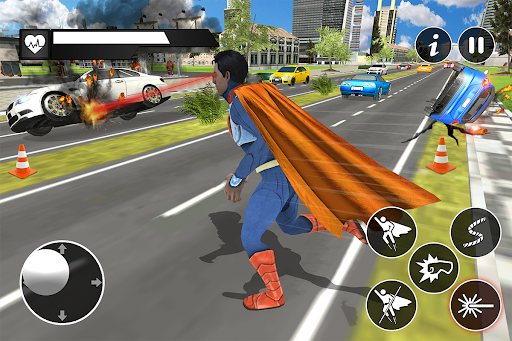 Black Rope Hero Vegas Mafia Superhero Crime Battle  screenshots 8