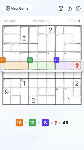 Killer Sudoku - Free Sudoku Puzzle, Brain Games  screenshots 5