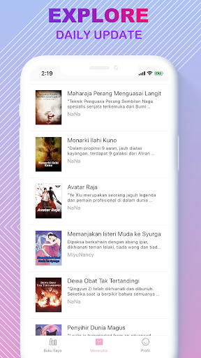 Code Triche LovNovel -  Melayu & Indonesian Novel (Astuce) APK MOD screenshots 2