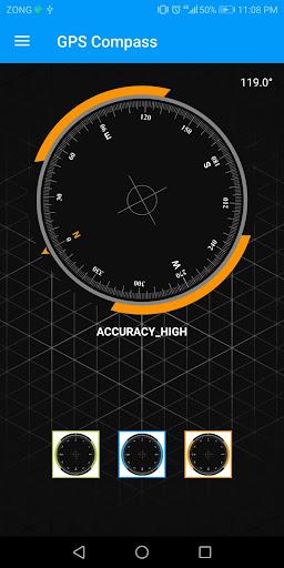 Compass Sensor for Android Digital Compass GPS 360 1.1.1 Screenshots 4