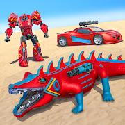 Crocodile Robot Car Game- Cat Robot Transform Game