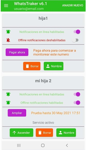 Screenshot 2 de WhatsTraker Notificador para android