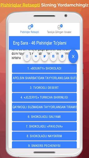 Pishiriqlar Retsepti Uzbek Tilida_TOP PiSHiRiQLaR 2.4.4 Screenshots 2