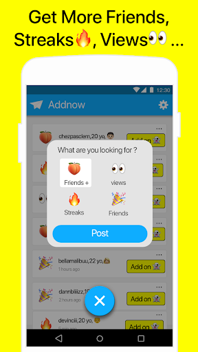 Friends for Snapchat - AddNow 1.9.1 Screenshots 2