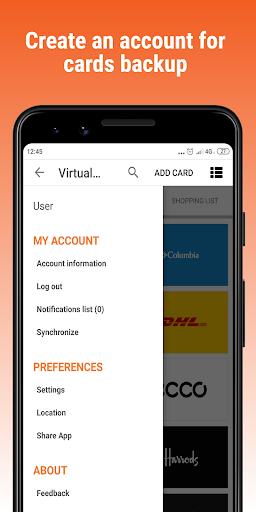 virtualcards-loyalty cards & coupons wallet screenshot 1