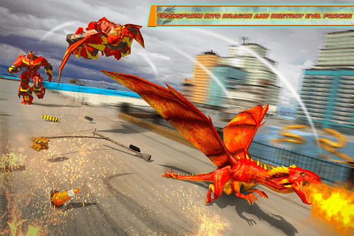 Dragon Robot Transforming Car 2.7 screenshots 2