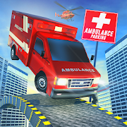 Roof Jumping Ambulance Simulator - Rooftop Stunts