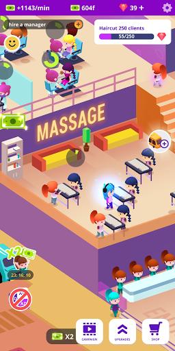 Idle Beauty Salon: Hair and nails parlor simulator apkslow screenshots 18