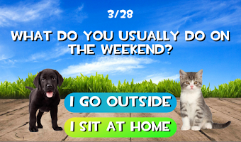 Test what cat or dog am I? Animal simulator