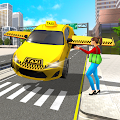 City Taxi Driving Simulator Game: Flying Car Games Apk
