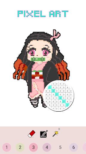 Pixel Kimetsu No Yaiba Color By Number - KNY Paint 126.0 screenshots 5