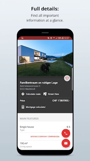 Homegate - apartments to rent and houses to buy 10.7.0 Screenshots 5