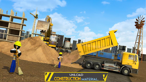 Stickman City Construction Excavator 1.5 screenshots 7