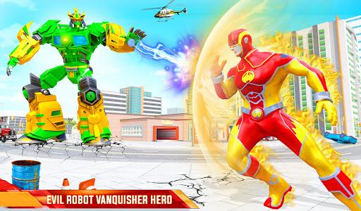 Flying Police Robot Fire Hero: Gangster Crime City  screenshots 9