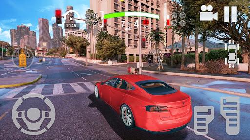 Electric Car Simulator 2021: City Driving Model X Apkfinish screenshots 12