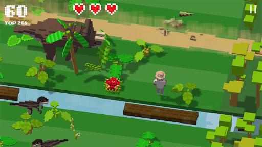 Jurassic Hopper: Crossy Dinosaur Shooter Game APK MOD – Monnaie Illimitées (Astuce) screenshots hack proof 2