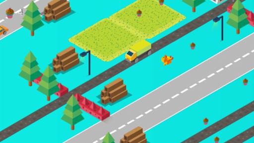 Cross Road: Cute Animals - Chicken Game 3.4 screenshots 2