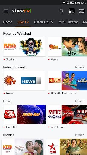YuppTV - LiveTV, Movies, Music, IPL Live, Cricket screen 1