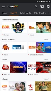 YuppTV - LiveTV, Movies, Music, IPL Live, Cricket Screenshot