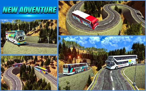 Impossible Bus Simulator Tracks Driving Screenshot