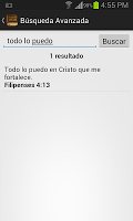screenshot of Santa Biblia Reina Valera