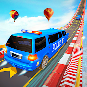 US Police Limo Ramp Car Stunts: Police Car Games
