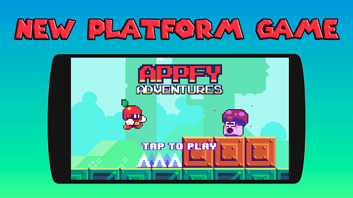 Appfy 2D Adventure - Hard one tap jump and run 1.2 screenshots 1
