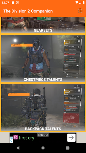 the division 2 companion app (game weekly vendor) screenshot 2
