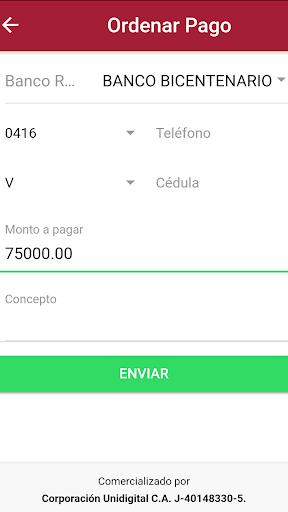 Tu Pago Movil Banco Bicentenario  screenshots 3