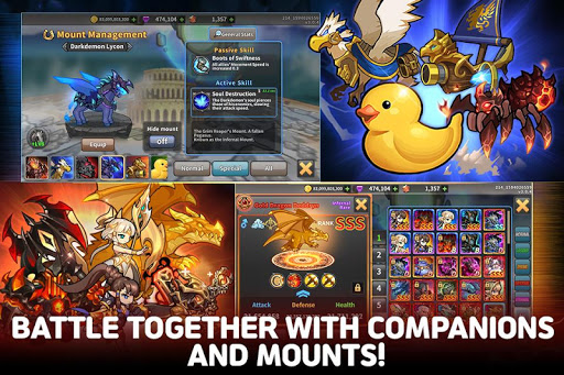 Raid the Dungeon : Idle RPG Heroes AFK or Tap Tap apkmr screenshots 5