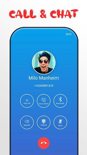 Milo Manheim Call Me! Fake Video Call screenshots 3