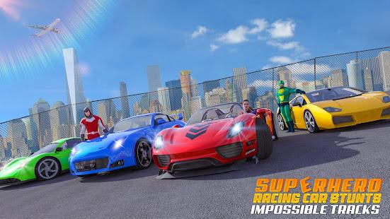 Superhero Car Games GT Racing Stunts - Game 2021 1.22 Screenshots 5