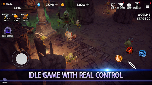 Dungeon Knight: 3D Idle RPG android2mod screenshots 2