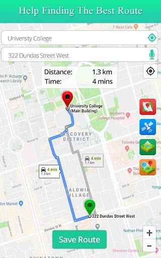 Live Satellite View GPS Map Travel Navigation screenshot 1
